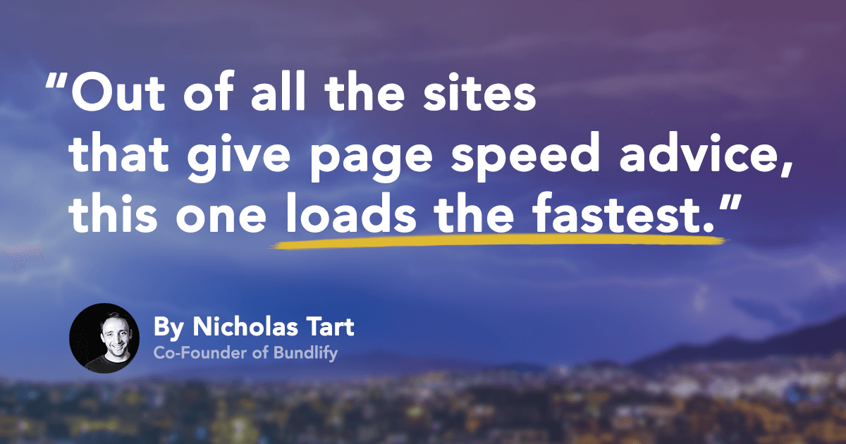 Page speed fast website
