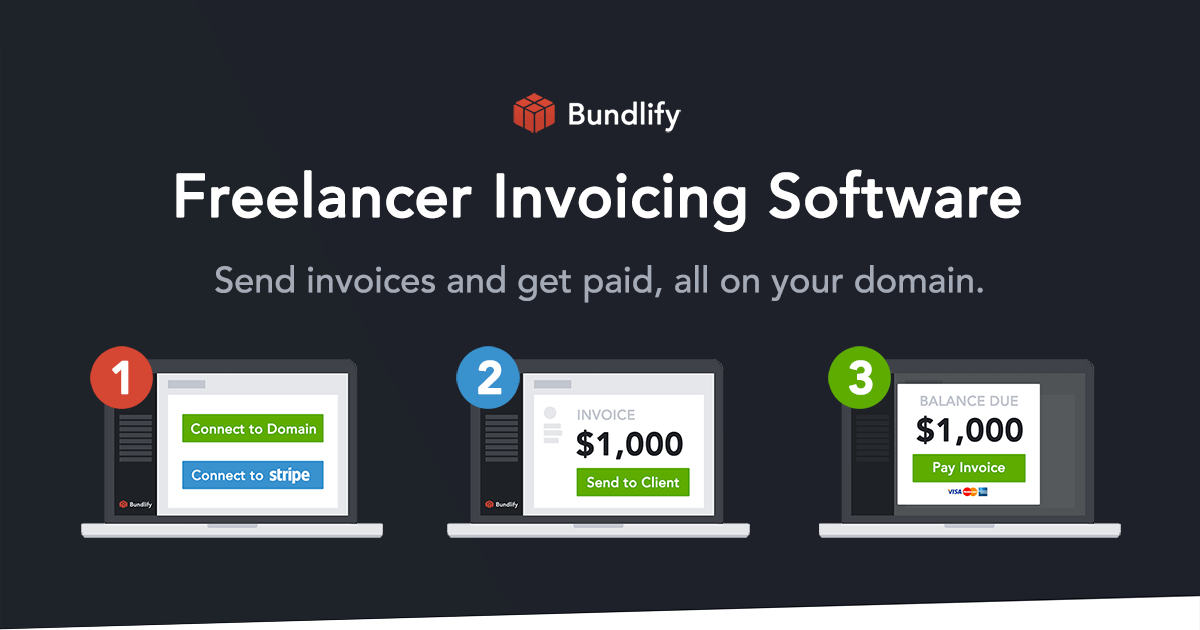 Freelancer Invoicing Software And Stripe Payments Bundlify - Invoice simple stripe
